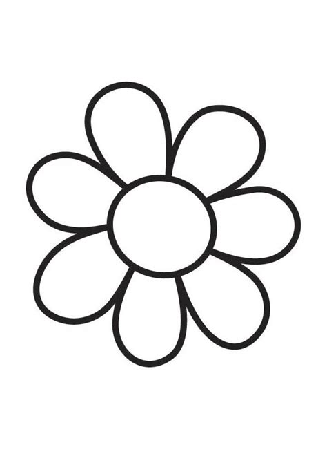 Big Flower 5 big flower coloring pages 716218 forever coloring