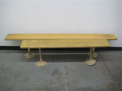 used locker room benches object moved