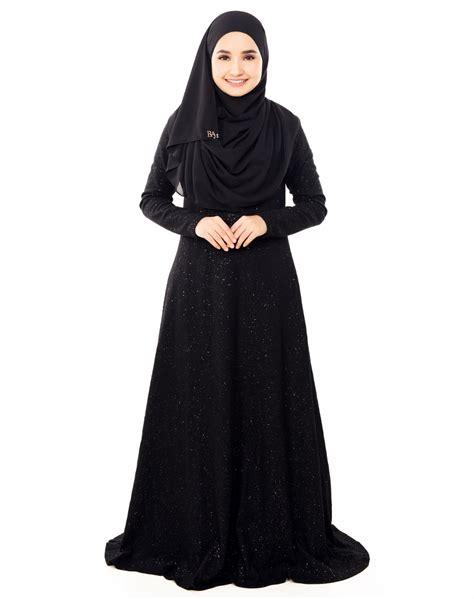 Aleeya Instant Black jubah baimonds black ammara