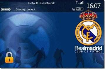 Themes Blackberry Real Madrid | realmadrid themes for blackberry free download