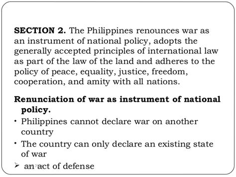 article 2 section 2 of the constitution summary 1987 constitution article 2 summary
