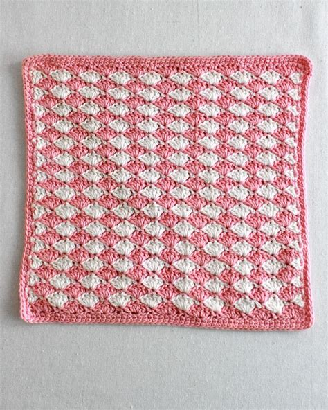 pattern color change shell crochet stitch pattern video change color every