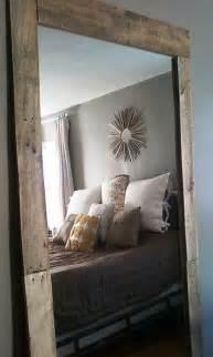 Mirrors Behind Nightstands Full Length Mirror Love The Rustic Frame Big Mirror