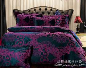 90 Down Duvet European Bedding Sets Dark Purple Bedding Cover Set Brand