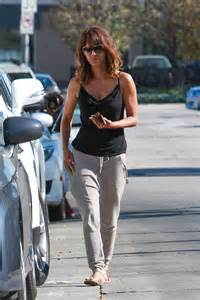 halle berry arrives at kinara skin care clinic amp spa in