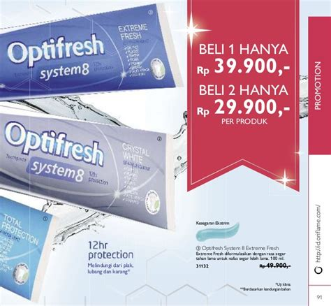 Optifresh Extrime Fresh katalog oriflame april 2016 indonesia promo novage