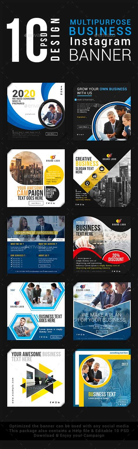Template Multipurpose Vol Ii Brosur Banner Katalog Flyer Template Ikl multipurpose business instagram banner banners business and instagram