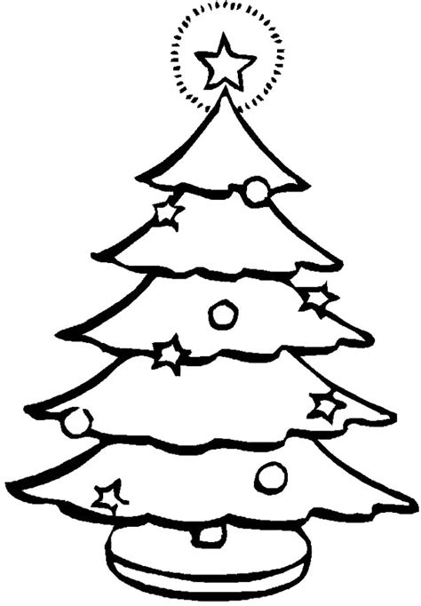 Christmas Tree Line Drawing Cliparts Co Tree Coloring ñ A4 22 Pages