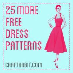 25 more free dress patterns crafthabit com sewing for beginners pinterest dress