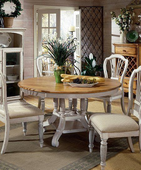 white wilshire  piece dining set zulily