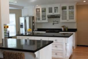 White Cabinets Granite Countertops Kitchen White Kitchen Cabinets With Black Granite Countertops Decor Ideasdecor Ideas