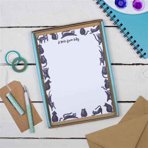 personalised writing paper sets letter writing set writing paper gift for gift for