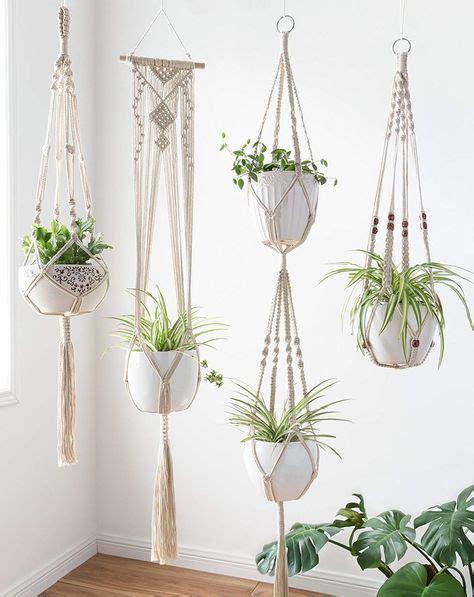 set   macrame plant hanger hanging planter basket