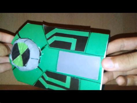 How To Make A Paper Ben 10 Omniverse Omnitrix - ben 10 ultimate paper ultimatrix new version
