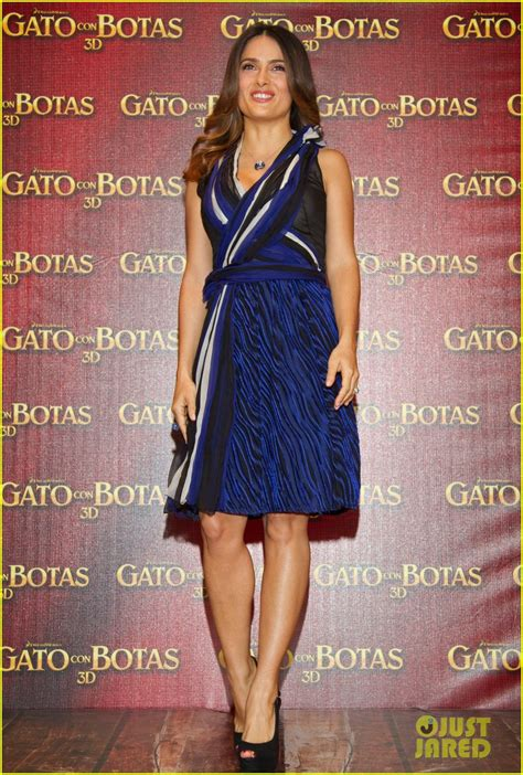 Full Sized Photo of salma hayek puss in boots mexico city ...