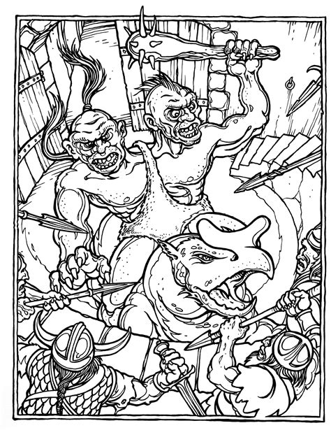 coloring pages dungeons and dragons d d coloring book pic i am bored