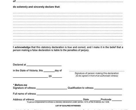Section 32 Vendor Statement Template by Statutory Declaration Standard Form Real Estate Documents