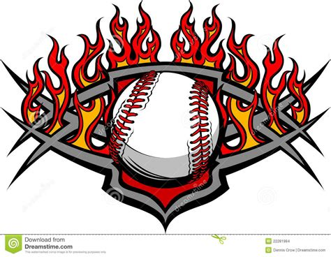 softball design templates baseball softball template with flames stock images