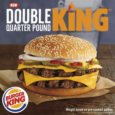 burger kings new double quarter pound king sandwich takes