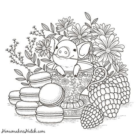 coloring book by nature for adults relaxation don juan s coloring books books pig in a tea cup coloring page homemaker s hutch