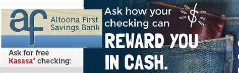 altoona first savings bank kasasa cash checking account