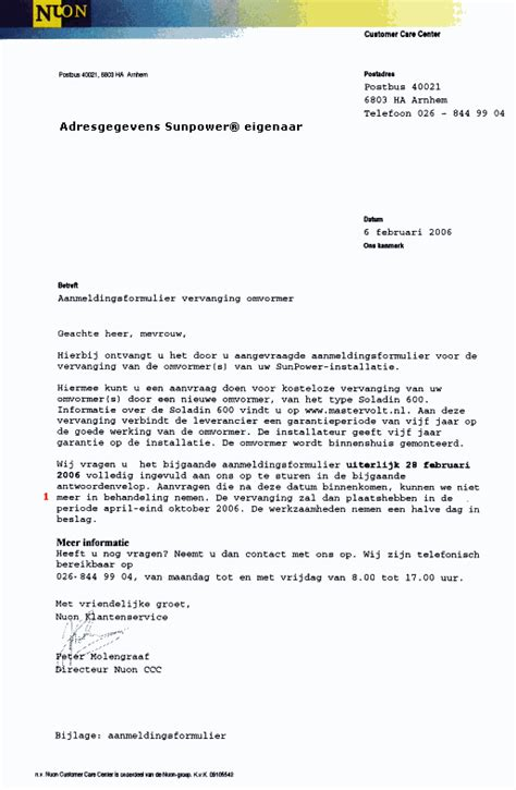 zakelijke brief kopie sunpower 174 letters calling for renovation of nuon eneco pv systems