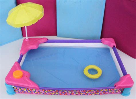 barbie doll house with pool barbie spray play swimming pool beach patio vintage dollhouse arco mattel 1991 ebay