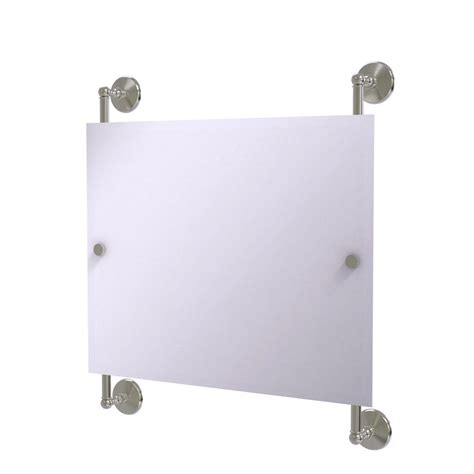 large rectangular solid brass mirror satin nickel allied brass monte carlo landscape rectangular frameless