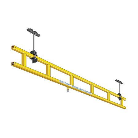 ceiling mounted monorail fall protection rigid lifelines