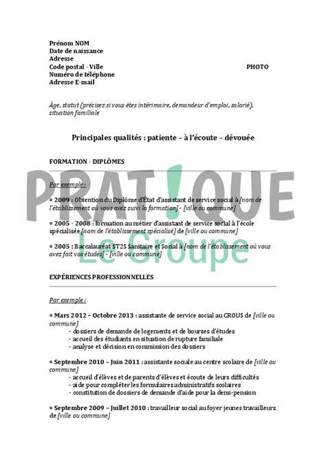 Modèle De Cv Franàçais by Resume Format Mod 232 Le Cv Assistant De Direction