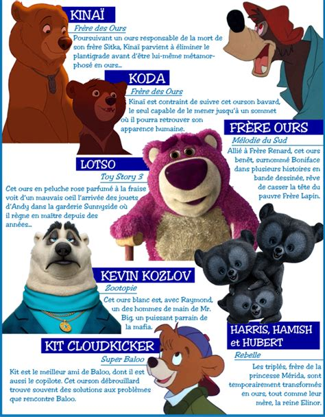 film disney ours personnages disney 176 o 176 th 232 me les ours