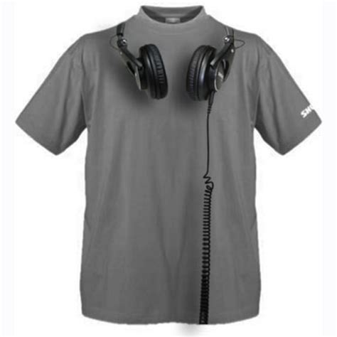 Tshirt Headphones Putih auscultadores shure srh1440 traseira aberta profissional e livre shure t shirt na gear4music