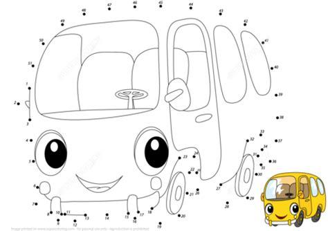 printable school bus dot to dot yellow bus dot to dot free printable coloring pages