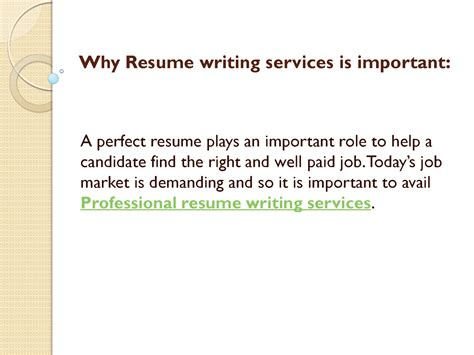 Resume Writing Importance Why Resume Writing Services Is Important Authorstream