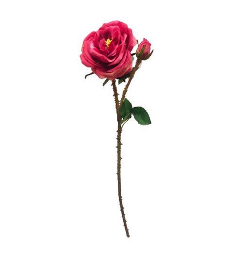 rosa fiore rosa fiore artificiale fucsia h60 cmbekreative