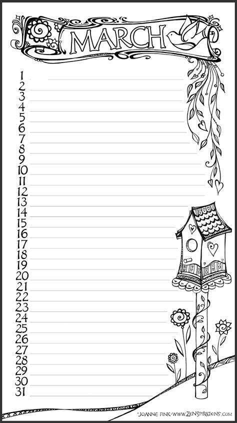 I've Got Your Number | journal bullet | Calendrier avril