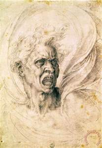 what color is michelangelo michelangelo buonarroti study of a shouting painting