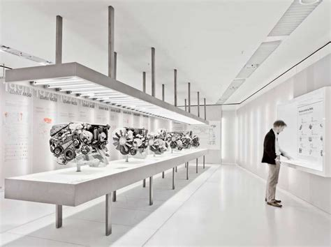 bmw museum inside exhibition room inside the bmw museum in munich by atelier