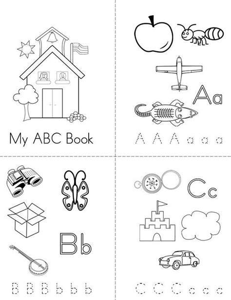 free printable alphabet book template my abc book twisty noodle