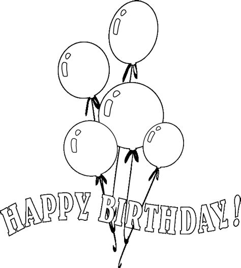 coloring pages of happy birthday balloons balloons coloring pages