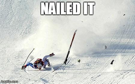 Skiing Memes - nailed it ski meme laugh pinterest beats skiing