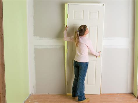 Installing Door Frame Interior How To Install Interior Pre Hung Doors How Tos Diy
