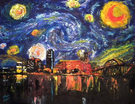 paint with a twist nlr ar starry rock painting by david mcghee