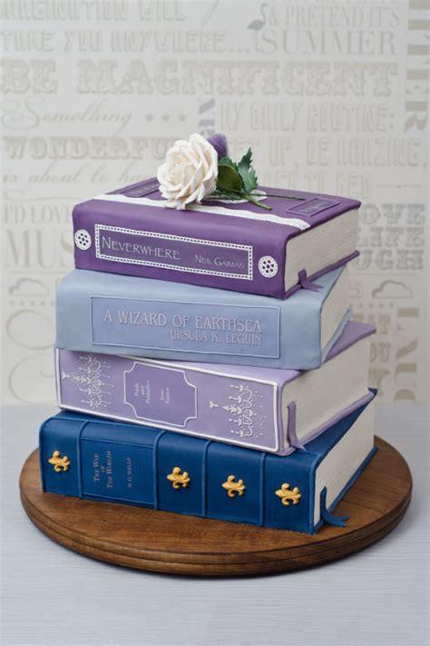 book stacking ideas stack of books wedding cake cake by joanna cakesdecor