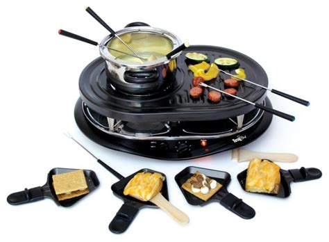Raclette Grill Mit Fondue by Total Chef Raclette Grill W Fondue Contemporary Fondue