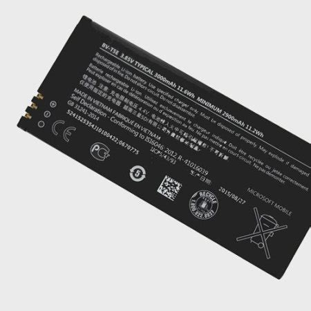 official microsoft bv te lumia  replacement battery