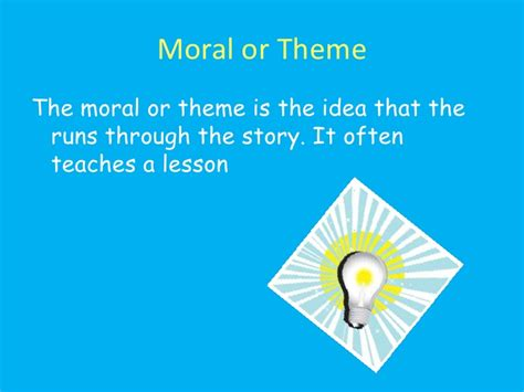 themes of the story eleven story elements an early elementary lesson