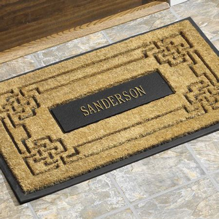 Custom Made Door Mat by Personalized Door Mat Personalized Welcome Mat Custom