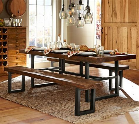 995 6 reproduction griffin reclaimed wood dining