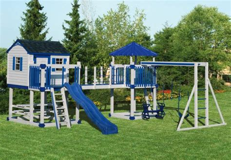 children s outdoor swing sets playhouse swing set plans swingset c 5 castle vinyl
